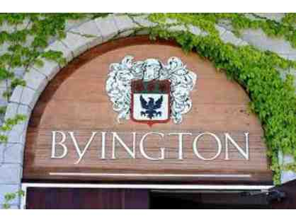 Live Auction Only! Byington Winery Group Tour and Tasting for Up to 10 People ~ $250 Value