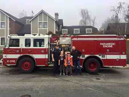 Live Auction Only! Ride to School in a Fire Engine! Includes Breakfast with Firefighters