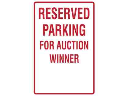 Exclusive reserved parking space for a year