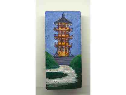 Patterson Park Pagoda Handpainted Brick & Gift Certificate to 2910 On the Square