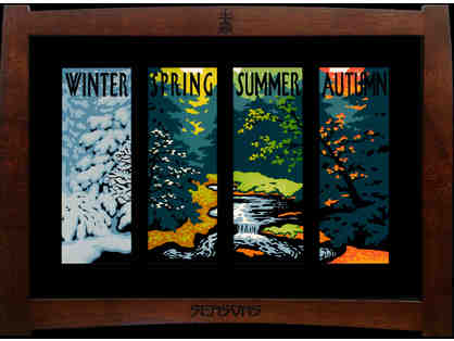"Laura Wilder, Featured Artist, Offers ""Seasons IV"" signed limited edition four-panel block print"
