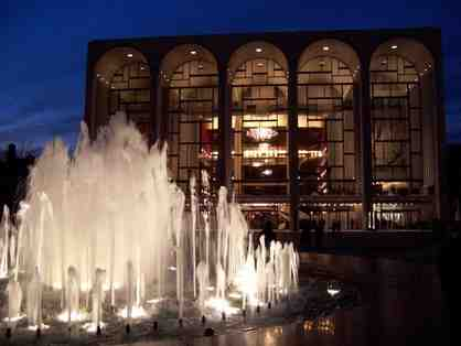 The Metropolitan Opera offers two tickets to a performance of Don Giovanni