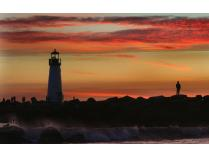 Harbor Lighthouse at Sunset for Four