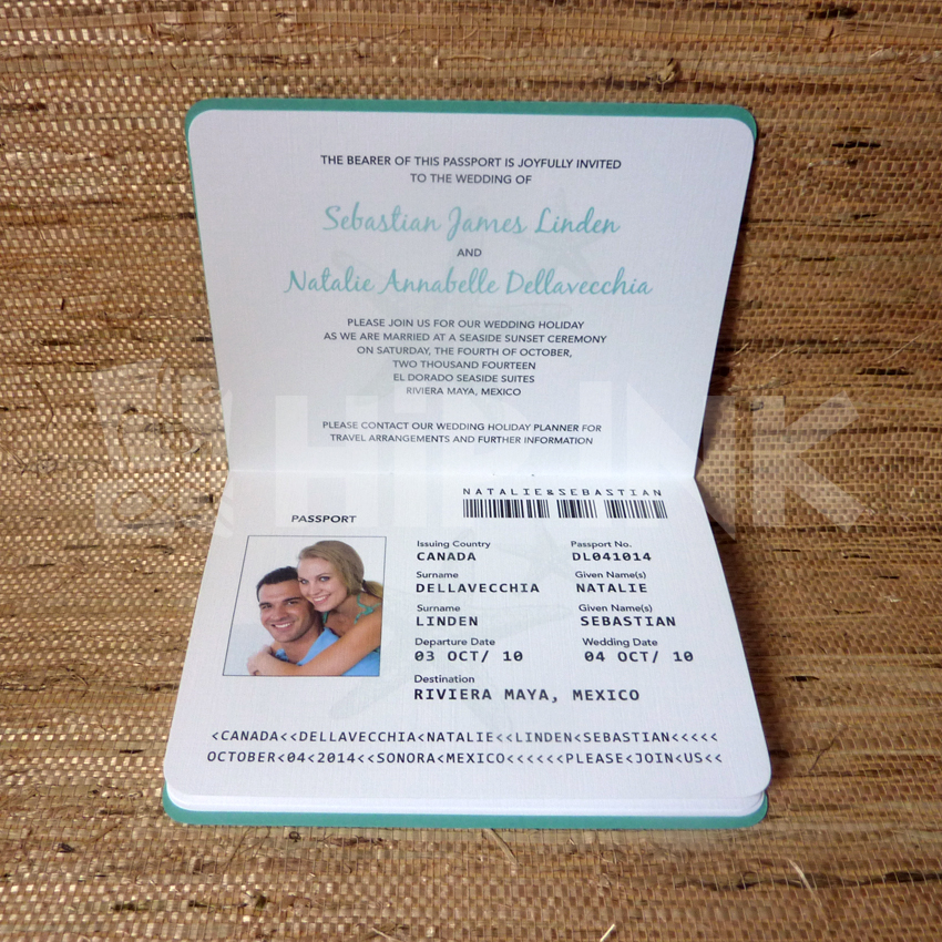 Wedding Passport Invitation Template